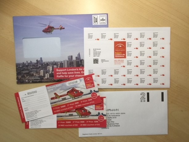 London's Air Ambulance Raffle Tickets Campaign