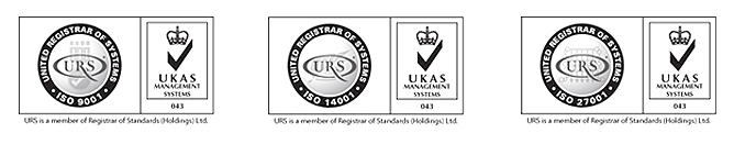 URS United Registrar of Systems UKAS ISO 9001 - ISO 14001 - ISO 27001